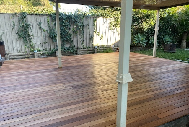 Timber deck in Acacia Gardens