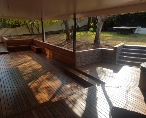 Multi-level deck and stairs in Baulkham Hills
