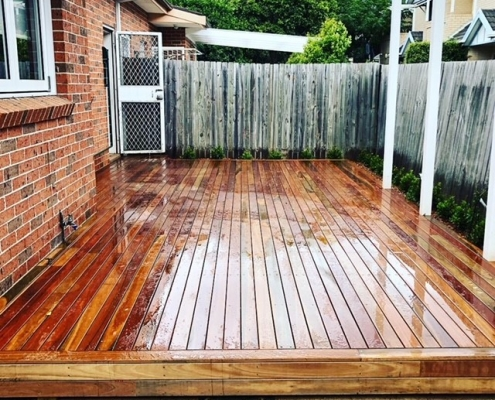 Timber deck in the Inner west