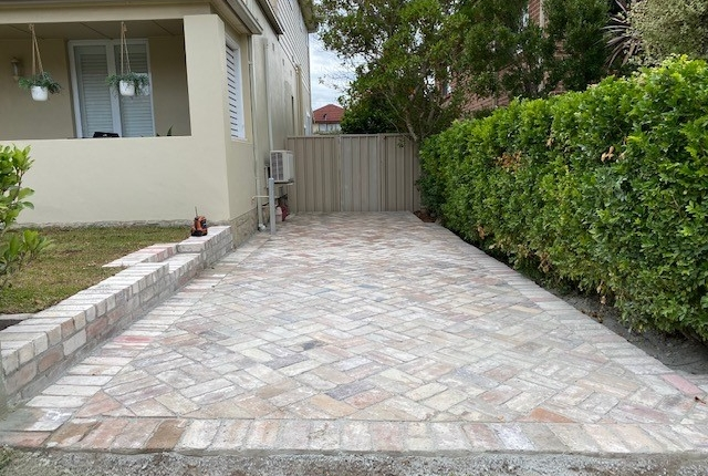Recycled brick paving in Concord