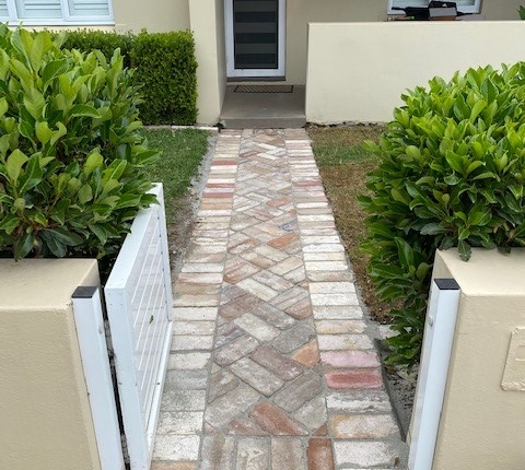 Front pathway paving in Concord