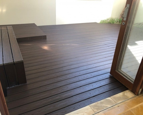 Outdoor entertaining area with timber deck in Cronulla