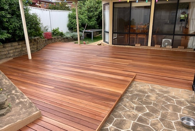 New timber deck in Glenwood