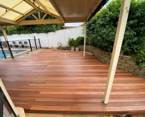 Timber decking in Glenwood
