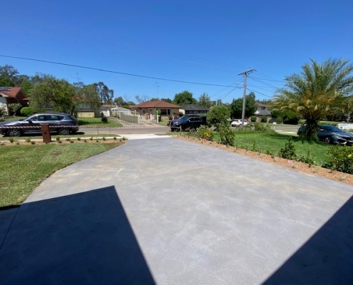New concrete driveway in Greystanes