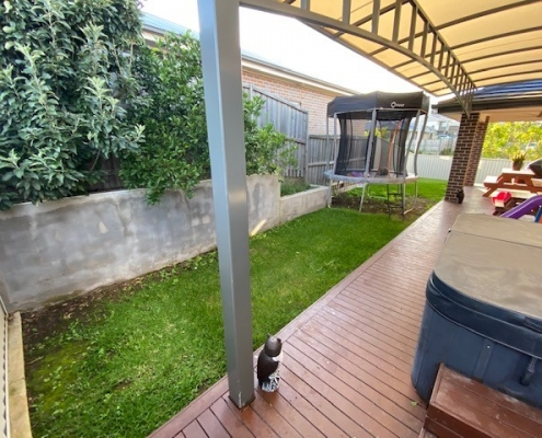 Decking and lawn in Kellyville