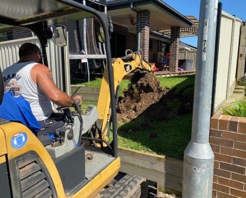 Excavation in Kellyville