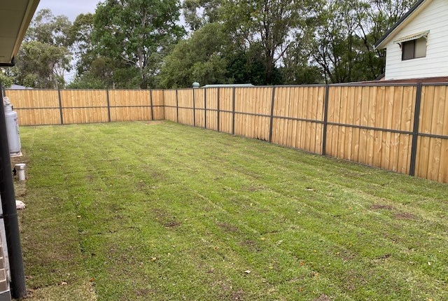 Fence and lawn in Kings Langley