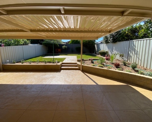Pergola with concrete pavers in the Hills District